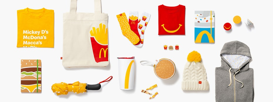 McDonald's Merchandise als Teil ihres Brand Marketings