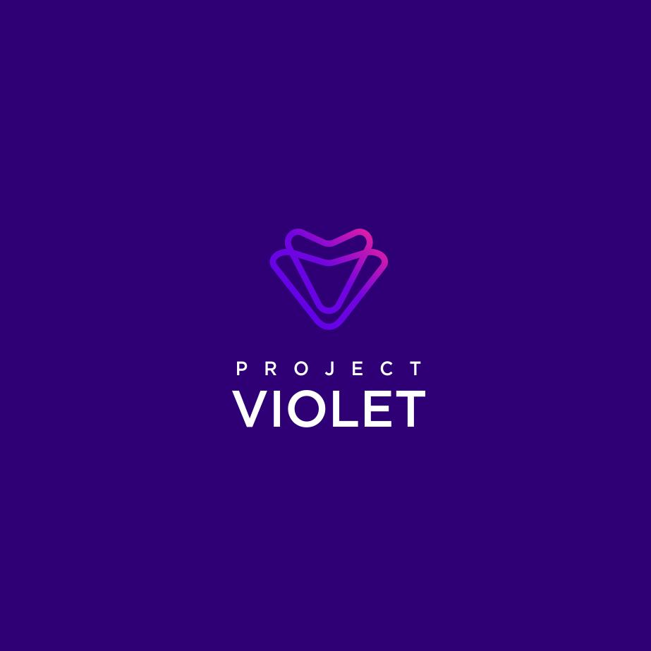 abstract modern purple logo