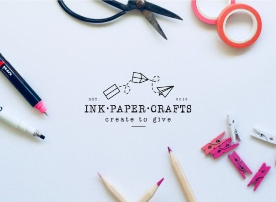 line drawn business logo showing paper planes