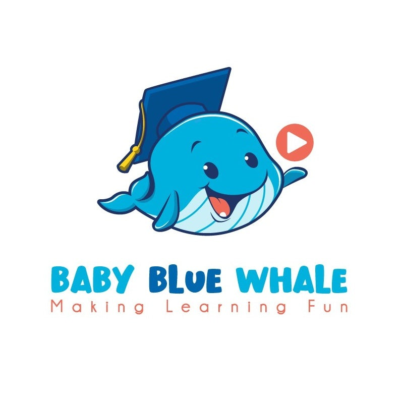 logo showing a blue whale in a graduation cap