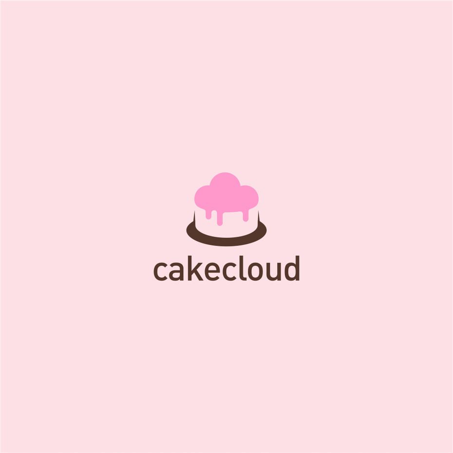 pink cake cloud logo