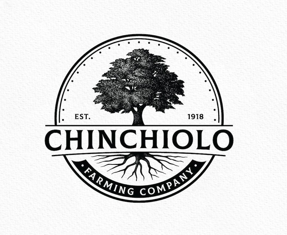classic small business logo emblem