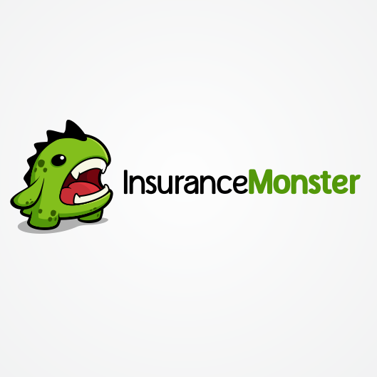 wordmark logo accompanied by a small green monster