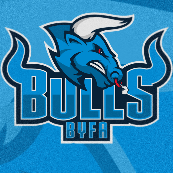 sports logo for Bulls Youth Football Academy