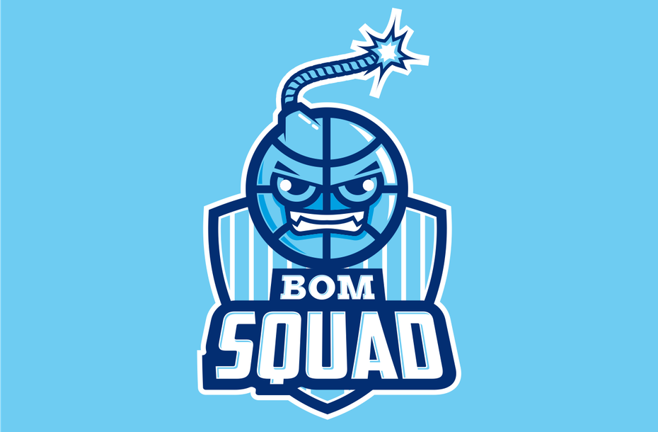 sports logo for BOM SQUAD