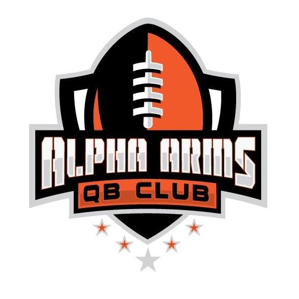 sports logo for Alpha Arms Football Club