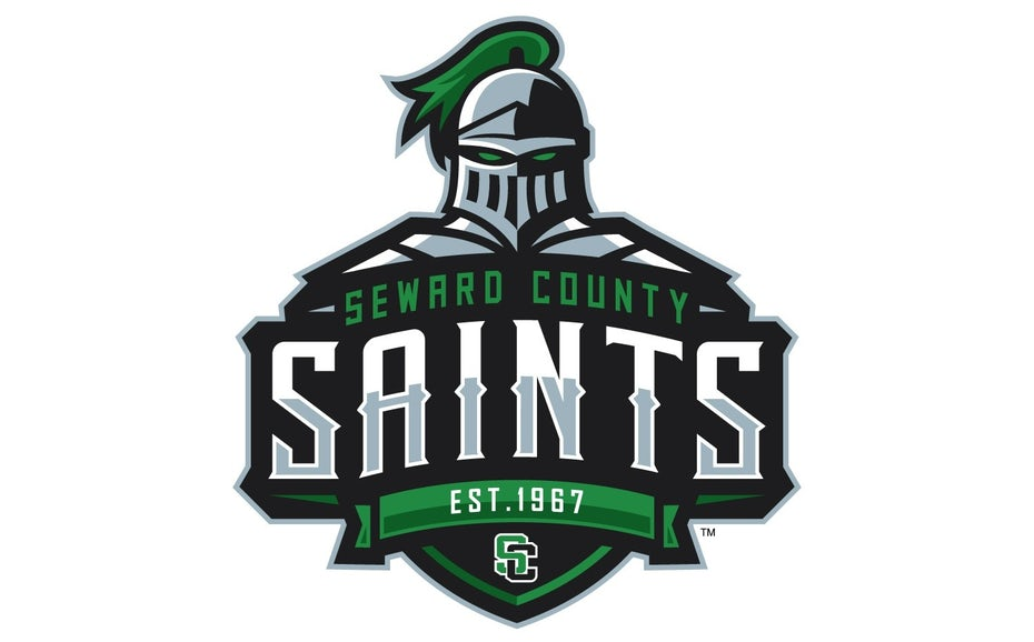 sports logo for Seward County Saints