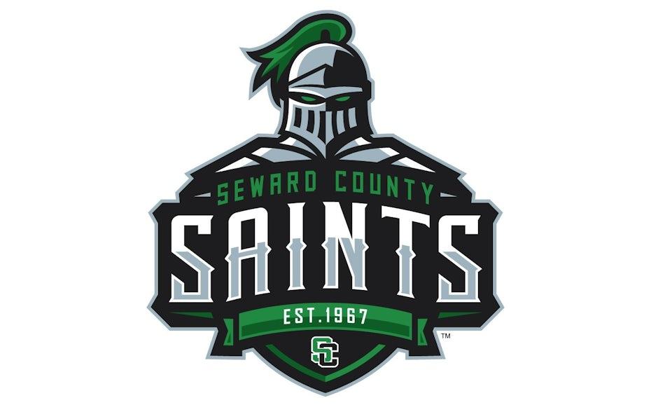 Un des logos de marques sportives réussi pour Seward County Saints