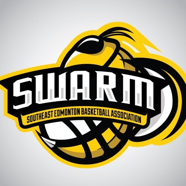 sports logo for Swarm Basketball