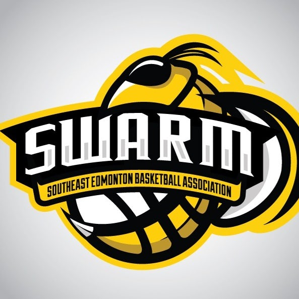 sports logo for Swarm Basketball