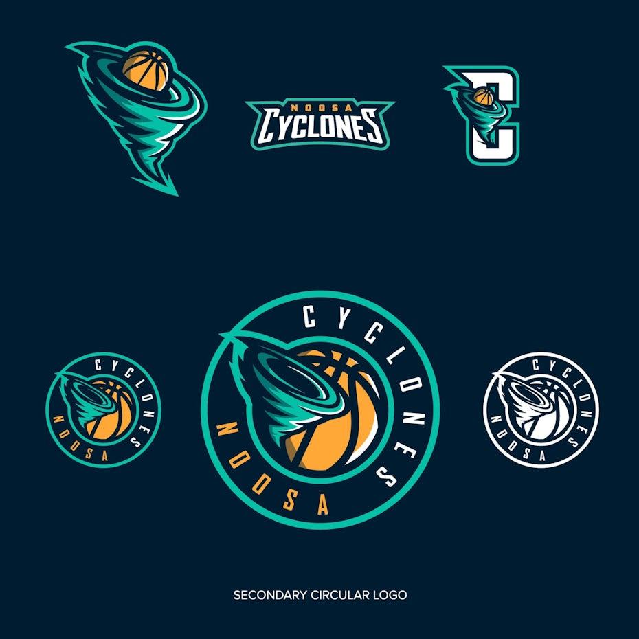sports logo for Noosa Cyclones