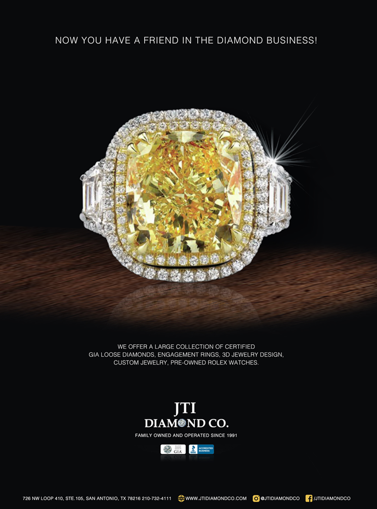 print ad showing a prominent diamond ring