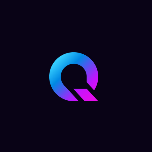 blue to purple gradient letter Q business logo