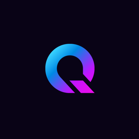 blue to purple gradient letter Q logo