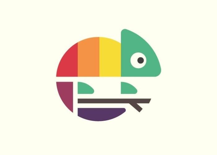 buntes eidechsen logo