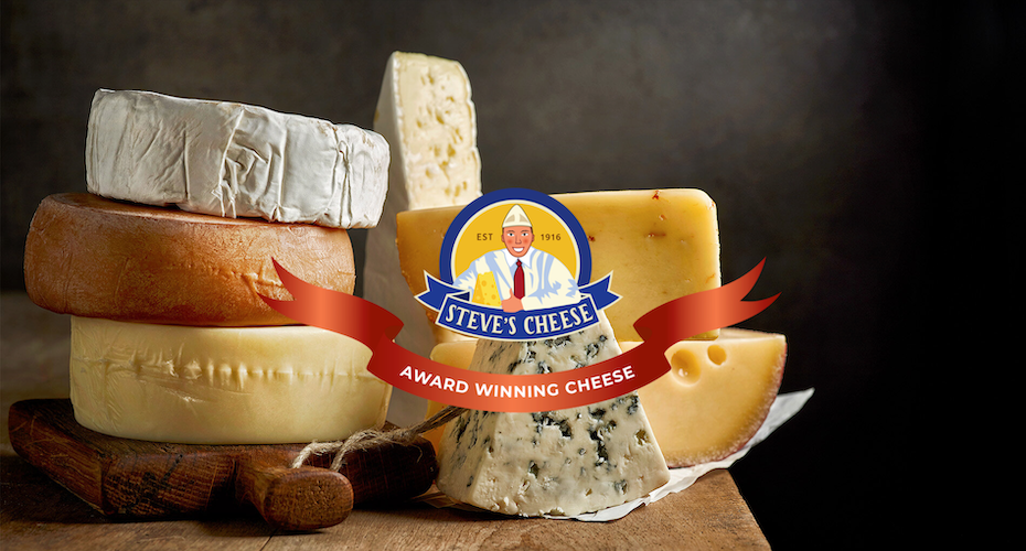 Landing page design for a cheese brand