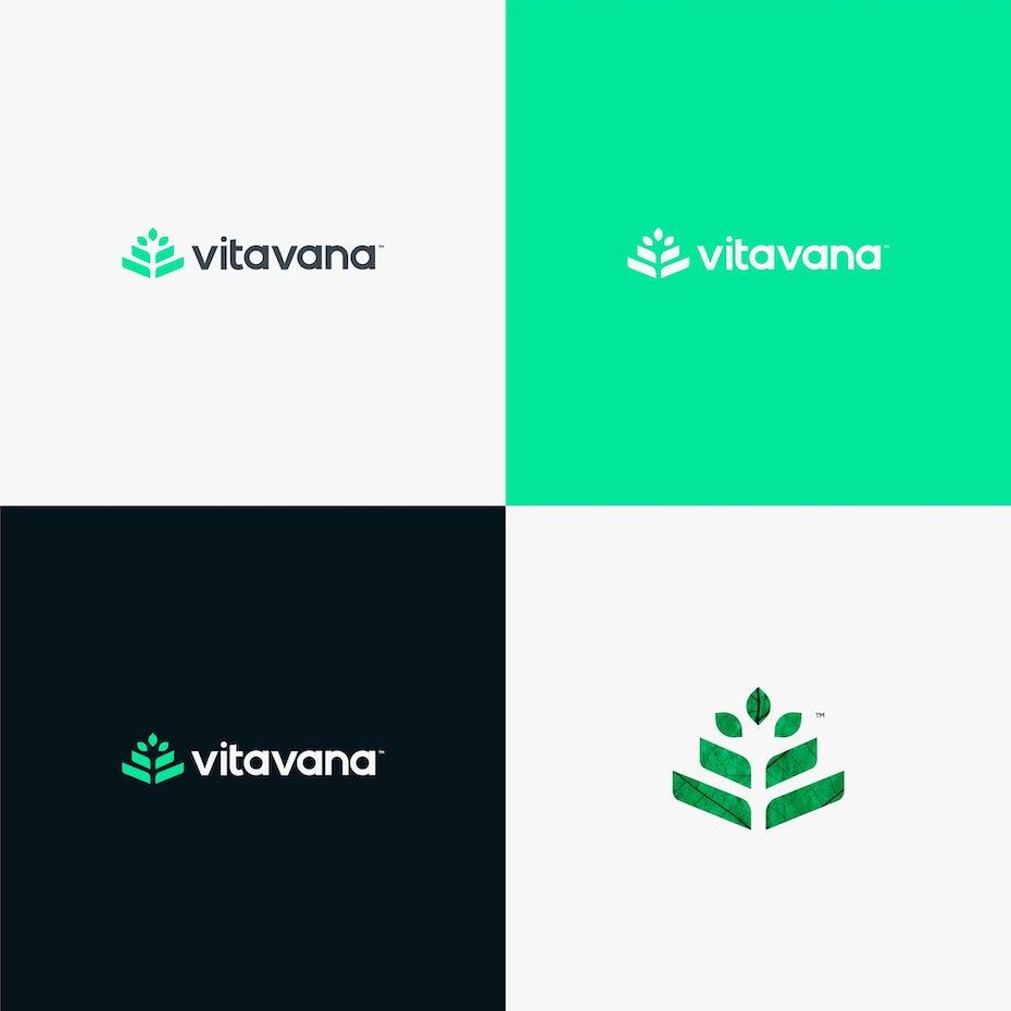 green logo design for vitavana