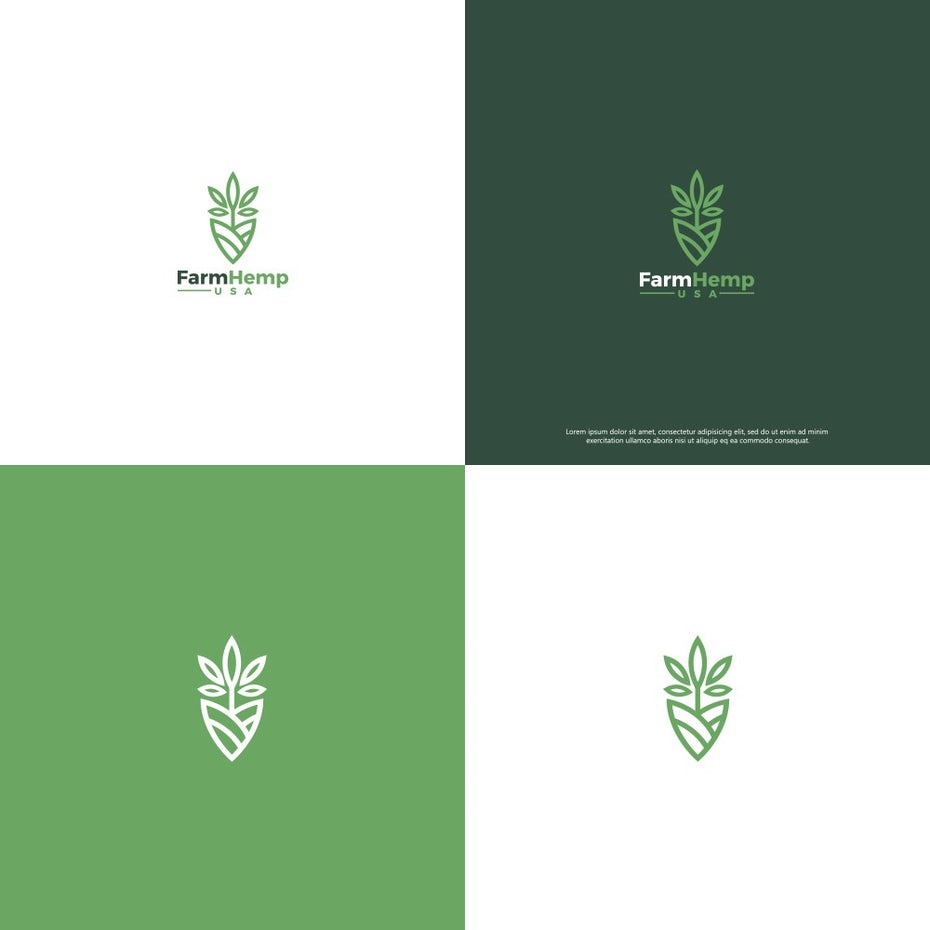 green logos for hemp company