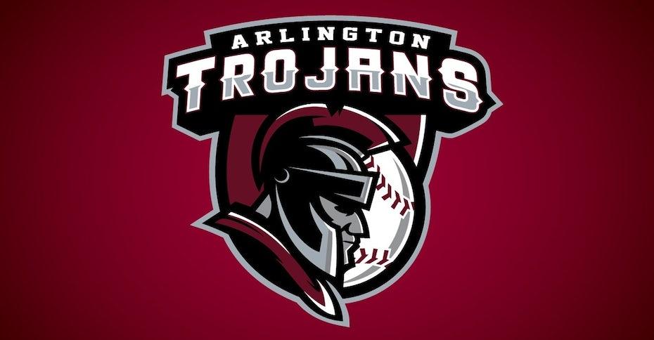 Un de nos logos de marques sportives réussi pour Arlington Trojans