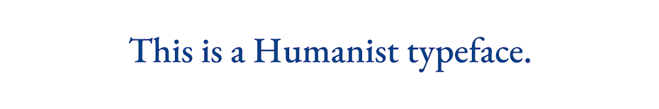 humanist typeface