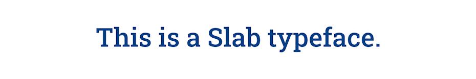 Slab typeface