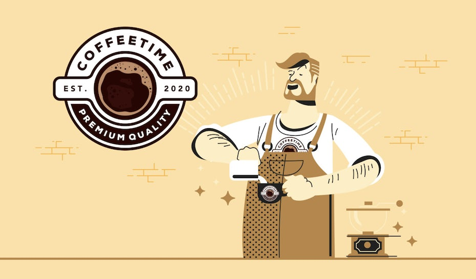 Coffee branding illustration