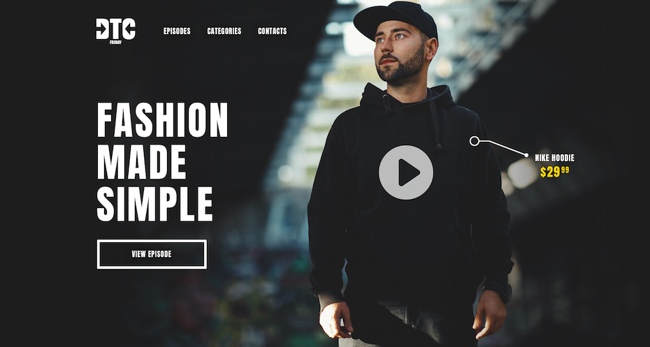 Commoditized fashion website