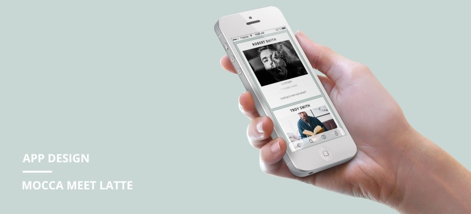 klares benutzer-orientiertes app-design