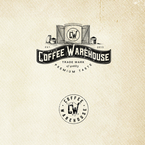 Nostalgic Coffee Warehouse Branding
