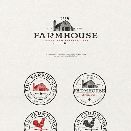 Nostalgic Coffee Farmhouse Branding