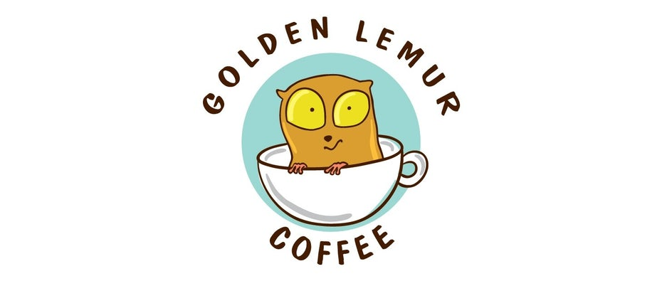 Golden Lemur Coffee Branding