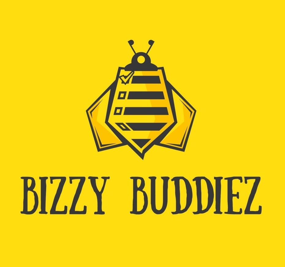 stylized logo of a yellow bee with a checklist on its back