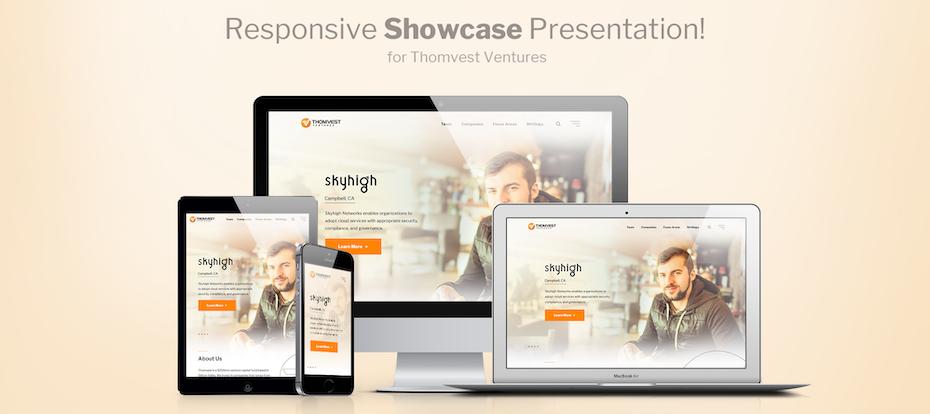 Le branding et le design de ce site web sont cohérents sur toutes les différentes plateformes