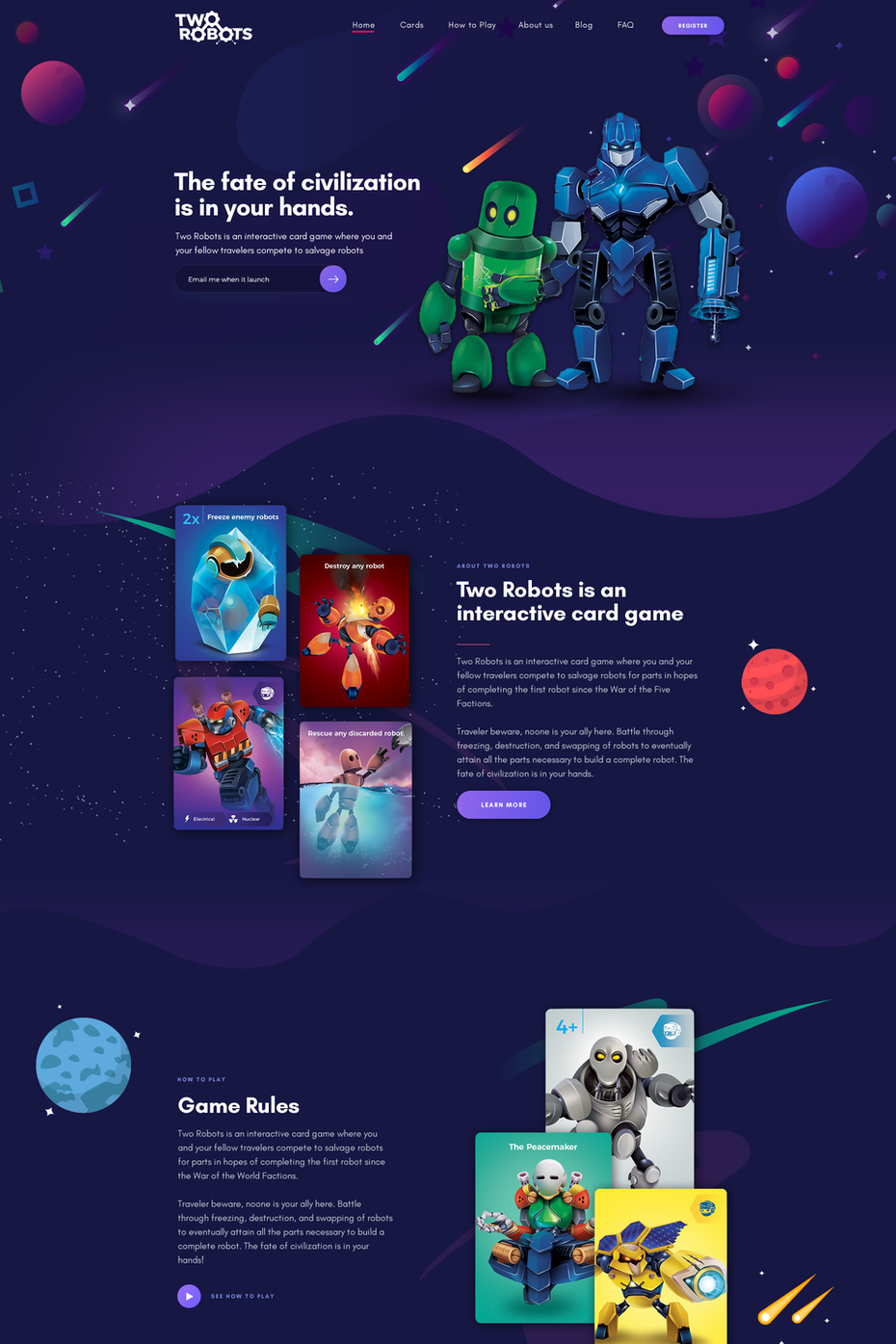 3d illustrated landing page design