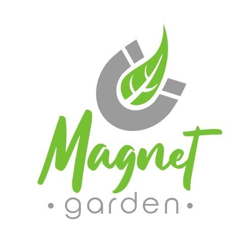 logo showing a magnet with a green leaf in the middle