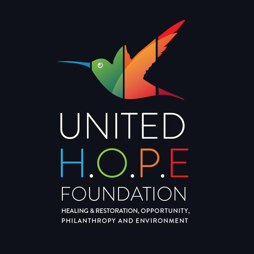 Foundation logo with hummingbird