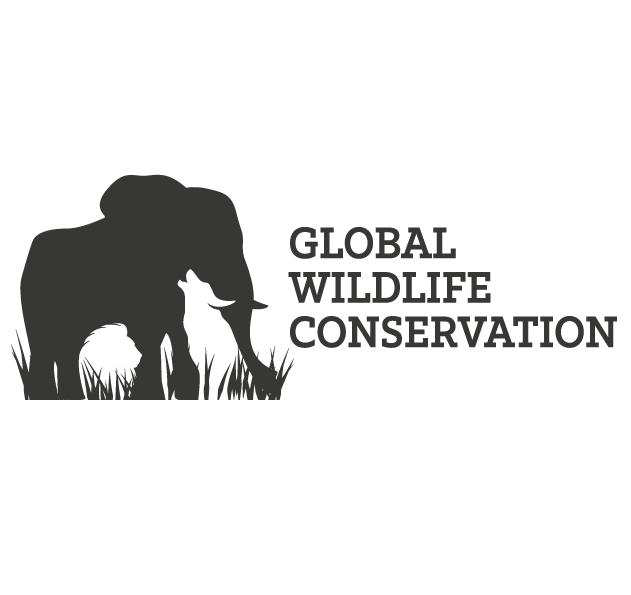 Negative space wildlife logo