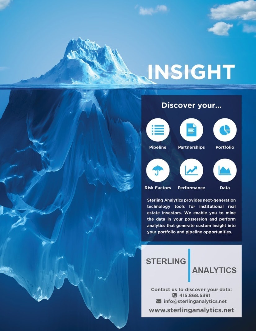 print page showing an iceberg beside analytics metrics