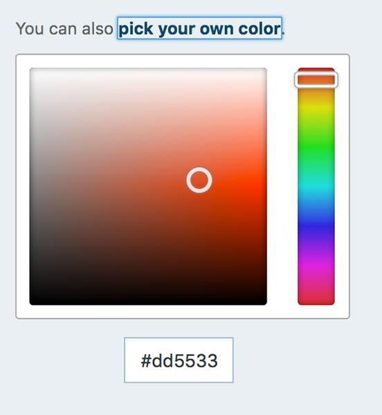 Le choix de différents tons d'orange sur une palette