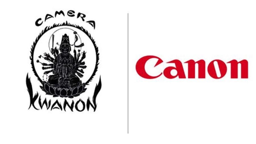 Canon cameras logo evolution examples
