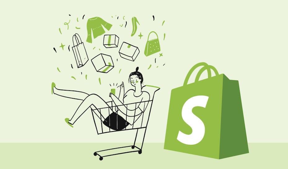 Illustration: Shopify website erstellen