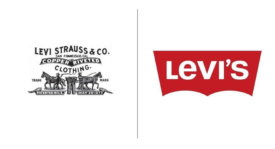 Levi's logo evolution examples