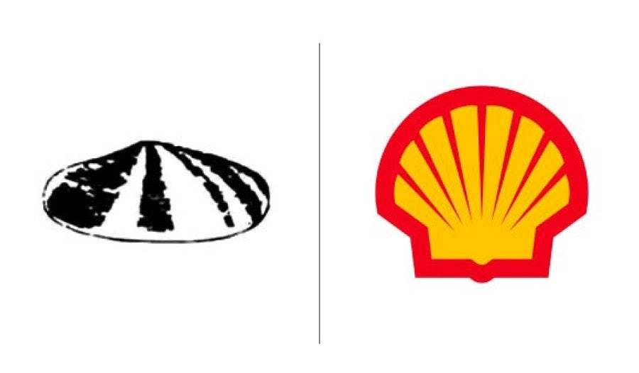 Shell logo evolution examples