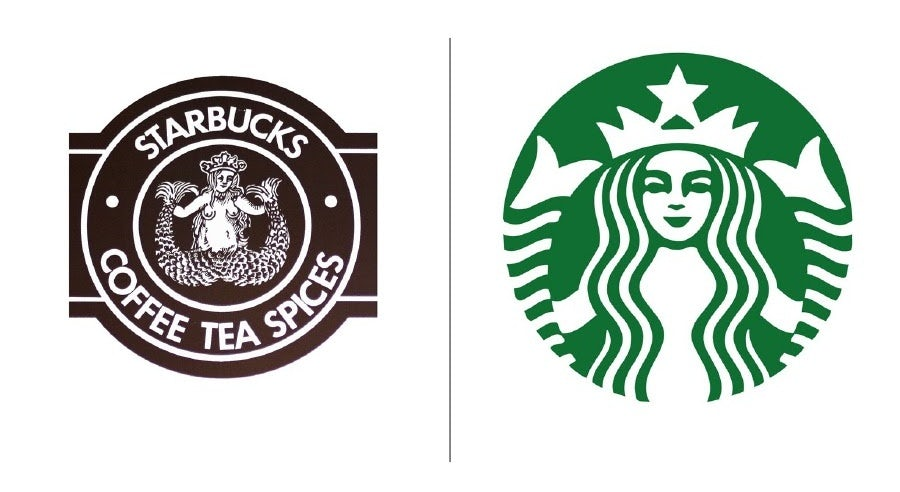 Starbucks logo evolution examples