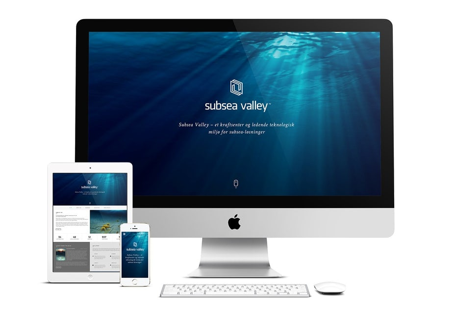 Simple website for Subsea Valley