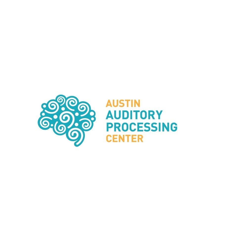 Arzt-Logo mit gehirn abstrakt