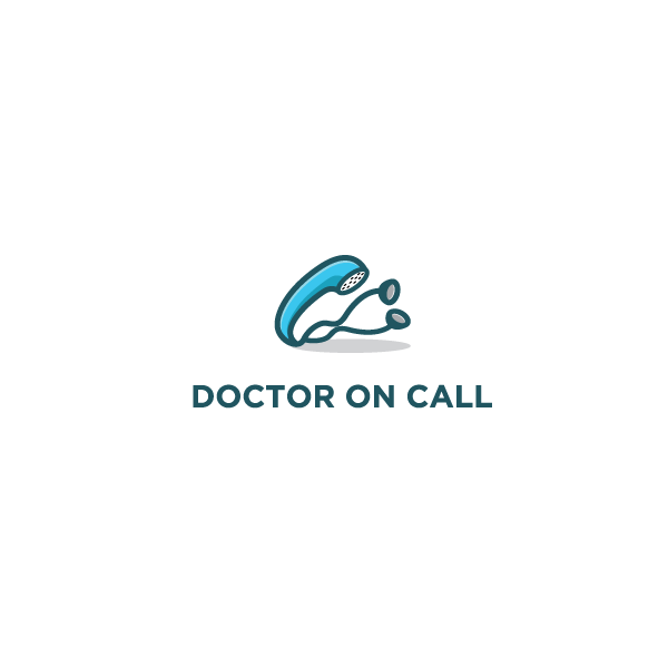 Arzt-Logo mit Telefon