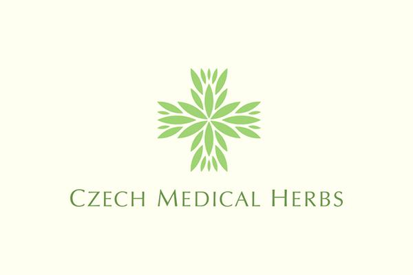 Arzt-Logo mit blätterkreuz