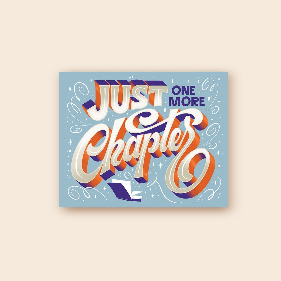 Hand-lettering design with solid shadows