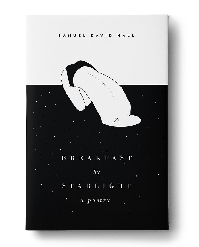 Surreal black and white illustrated book cover design